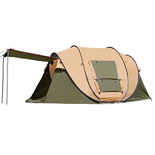 LKK-KK Al Aire Libre Completamente automático de Apertura rápida Que acampa Impermeable de la Tienda Portable de ventilación Duradero Fácil de Instalar rápidamente (Color : Brown)