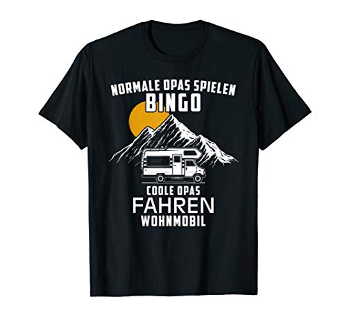 Herren Normale Opas Spielen Bingo Coole Opas Fahren Wohnmobil T-Shirt