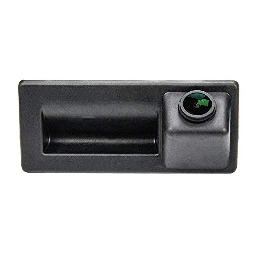 CCD Caméra Imperméable à l'eau de Vision Nocturne Tronc Poignée de Voiture Caméra de Recul de Vue Arrière pour A4 B6 B8/Passat B5 B6 B7 3C/Tiguan/Golf Plus/Touran/Jetta Se MK6/Sharan/Touareg/Cayenne