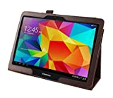 Tasche für Samsung Galaxy Tab 4 10.1 Zoll SM-T530 T531 T533 T535 Smart Slim Case Book Cover Stand Flip (Braun)