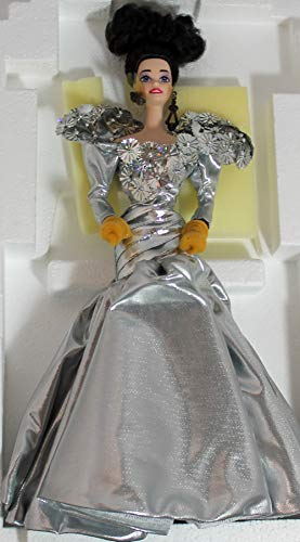 SILVER STARLIGHT BARBIE PORCELAIN LIMITED EDITION SERIAL # 00846 (1993 TIMELESS CREATIONS) by Mattel by Mattel