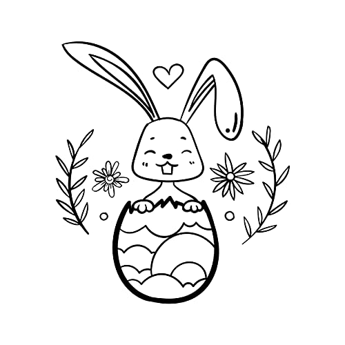 Sello de conejo de Pascua 02, sello de madera, para scrapbooking, tarjetas, manualidades