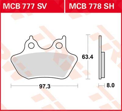 TRW lucas sV frein avant pour harley davidson fXDWG dyna wide glide entre mCB777SV de flux fD1 et