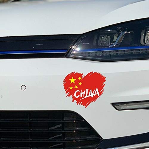 Liefde China Vlag Hart Auto Sticker Vinyl Wrap Auto Styling Decals Voor Raam Bumper Decor Auto's Accessoires