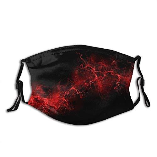 Pasamontañas rojo lineal tipo sangre en negro, unisex, reutilizable, resistente al viento y al polvo, bandana para camping, moto, correr, cuello con 2 filtros para té, hombres y mujeres