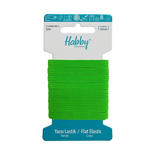 Habby 5 m di elastico | Elastico | Elastico | Elastico | Piatto | Rotondo | Bambino | 1,5 mm | 3 mm | 4 mm | 6 mm | 8 mm | 10 mm | Larghezza | Nero | Bianco | 20