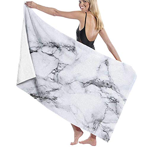 Sábanas de baño Toallas de baño de mármol Blanco Toalla de baño para Mujer Sábanas de baño Toalla de baño Envoltura de baño Súper Absorbente Secado rápido