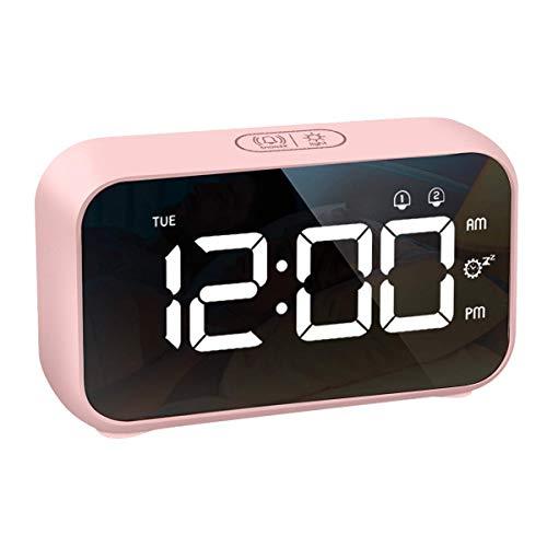 Orologio Digitale Sveglia LED Display da Comodino 40 Suoni di Allarme