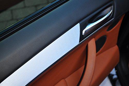 12 tlg. Alu gebürstet silber Look Zierleisten Interieurleisten Folien SET 100µm stark , Türleisten, Mittelkonsole, Aschenbecher passend für Ihr Fahrzeug