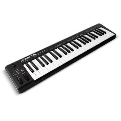 Alesis Q49   Clavier Maître USB MIDI 49 Touches Dynamiques et Sensibles + Logiciels Ableton Live Lite & Ignite inclus