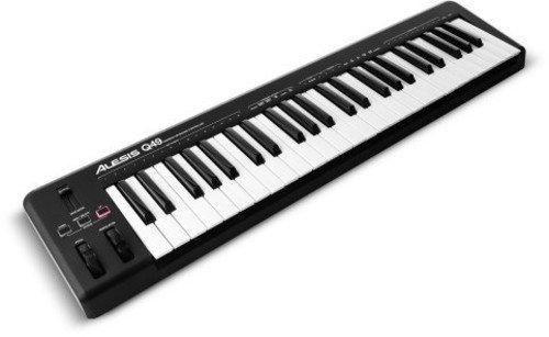Alesis Q49 Tastiera Controller USB MIDI con 49 Tasti Sensibili alla Velocità, Pitch & Modulation Wheel + Software Ableton Live Lite & Ignite