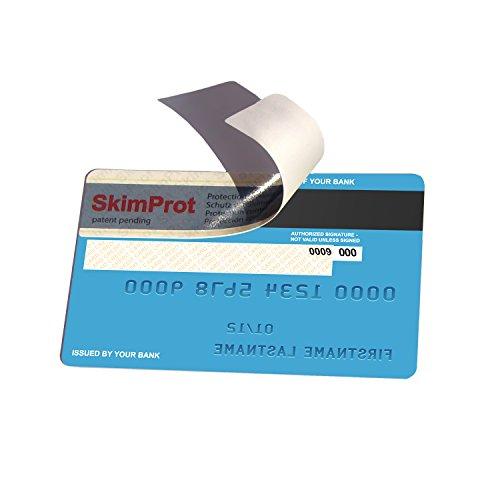 Preisvergleich Produktbild SkimProt Kredit- und EC-Karten Sicherheitsaufkleber für Anti-Diebstahl und Betrug Verhinderung.