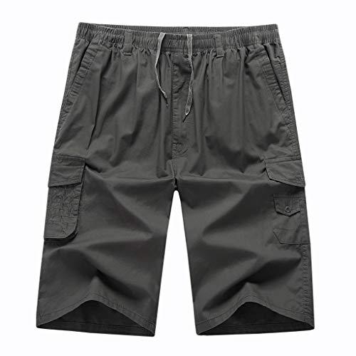 FRAUIT Pantalone da Lavoro Uomo Taglie Forti Plus Size Oversize Pantaloncini Palestra Uomini Bodybuilding Shorts Ragazzo Running Bermuda Basket Jogging Pantaloncino Sport Cotone con Tasche Casual