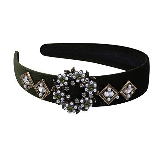 OSYARD Damen Haarreif mit Strass,Fashion Elastisches Kristall Haarband Stirnband Headband für Hochzeit,Party