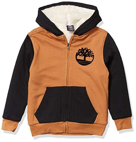 Timberland Jungen Sherpa Lined Fleece Full Zip Hoodie Kapuzenpulli, Weizenschwarz, XL