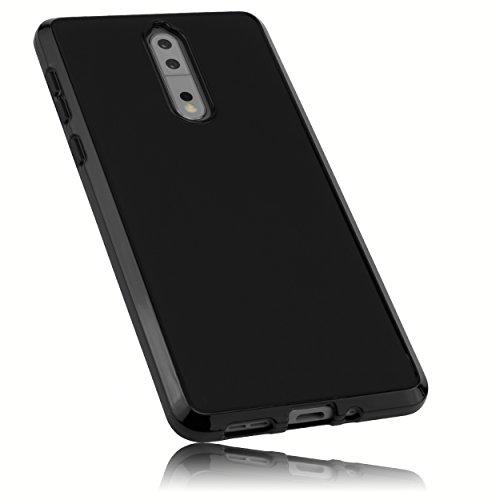 mumbi Hülle kompatibel mit Nokia 8 Handy Case Handyhülle, schwarz