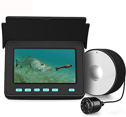 WSVULLD Buscador portátil de Pescado, cámara submarina para el buscador de Pesca transductor IP68 Luz de Infrarrojos de Infrarrojos para la Pesca con Hielo del Lago mar 8500mAh batería