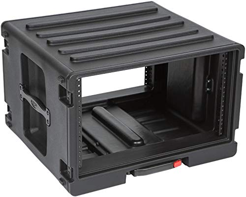 SKB Cases 1SKB-R6UW 6U Roto Rolling Rack, One-touch Pull...