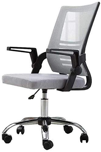 BeingHD Qualitätsbürostuhl, Bürostuhl mit Armlehne Bürostuhl, Mid Back Mesh Office Computer Swove Desk Task Chair, ergonomischer Executive Chair mit Armlehnen (Color : Gray)