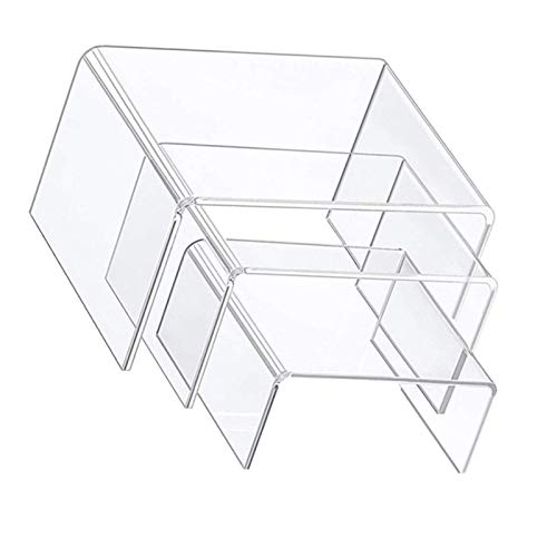 beeyuk 3 Sätze Acryl Display Riser Transparent Perfect Display Stand Kit, Ständer/Candy Dessert Tischdekoration