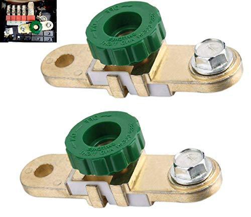 ZHITING Auto Motorrad Batterie Master Disconnect Isolator Terminal Trennschalter Stecker Trennschalter Batterien Schutz für LKW Carvan Boat 4X4 4WD (2PCS)
