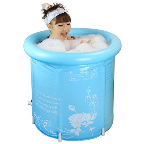 Ali@ Baignoire à eau plus épaisse Baignoire pour adulte Baignoire gonflable Baignoire Baignoire Barils (Couleur : No include lid, taille : 75 * 75 cm)
