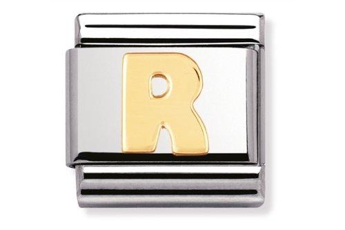 Composable Classic acero oro 18k letra R - Cód. Art. : 030101_18