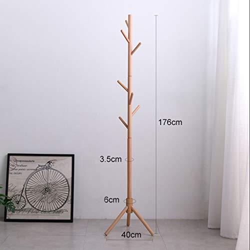 BVXGSWBQWS kapstok van hout met standaard, hoogwaardige metalen garderobe voor thuisgebruik, ronde sokkel, voor hal/ingang,