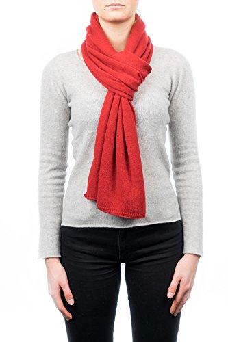 DALLE PIANE CASHMERE - Schal aus 100% Kaschmir - für Mann/Frau, Farbe: Rot, Einheitsgröße
