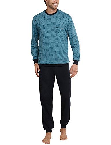 Schiesser Herren Schlafanzughose Anzug Lang, Blau (Blaugrün 817), 3X-Large (Herstellergröße 058)