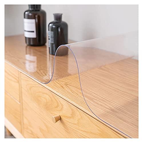 LSSB Esmerilado/Translúcido Plástico Estera De Protección Suelo Cojín De Escritorio De PVC Hidrófugo Mesa Paño Cubierta para Casa, Oficina, Mesita De Noche (Color : 3.0mm, Size : 100x100cm)