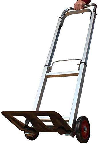 LUISONG FANMENGY Carro de servicio plegable carro de mano con fuerte capacidad de carga para equipaje, carrito de la compra con mango extensible para cocina