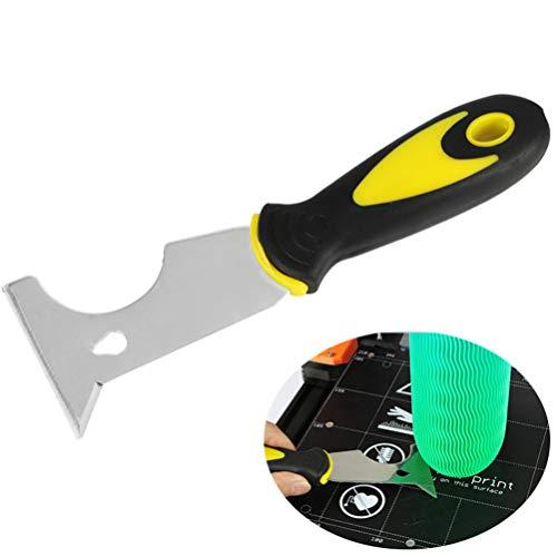 POPETPOP Impresora 3d espátula-accesorios de impresión 3d multifuncional ergonómica cama caliente raspador herramienta de eliminación de impresión herramienta de pala kit de limpieza de impresora 3d