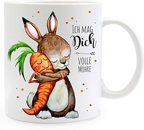 Kaffee Tasse ich mag Dich volle Möhre Keramikbecher 12 Oz Beidseitig Bedruckt Coffee Cup für ihre Männer Frauen Büro Papa Mama Kids personalisierte Geburtstag