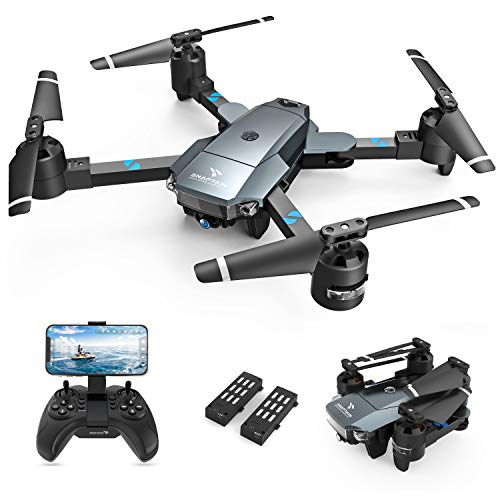 SNAPTAIN A15H Foldable Drone with 1080P HD Camera FPV WiFi RC Quadcopter for Beginners, Optical Flow Positioning, Voice Control, Gesture Control, Trajectory Flight, Circle Fly, G-Sensor