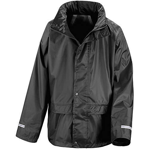 Result Core Childrens/Kids Unisex Junior Rain Suit Jacket (9-10) (Black)