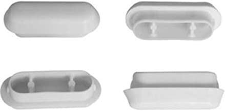 Numero pezzi per confezione 4 Paracolpi per sedili wc interasse mm.31 altezza mm.10 mm.47x17 Paracolpi per sedili wc