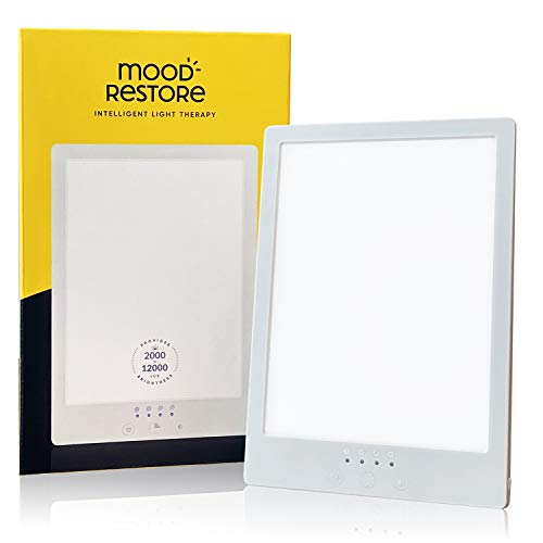 Best Review Of Mood Restore - (4 Pack) 12,000 LUX Light - Happy Sun Light w/Timer, UV-Free w/ 6ft Po...