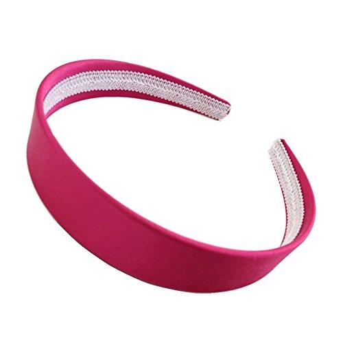 Recouvert de satin rose vif Alice Bandeau pour cheveux 2,5 cm (2,5 cm) Large