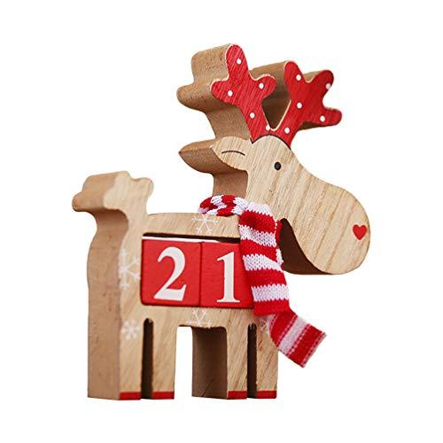 Amosfun Wooden Christmas Advent Countdown Calendar...