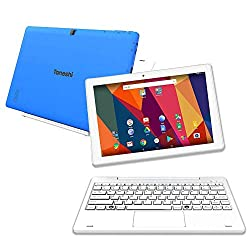 """Tanoshi 2-in-1 Computer for Kids Ages 6-12, 10.1"""" HD Touchscreen Display, 32 GB (Blue)"""