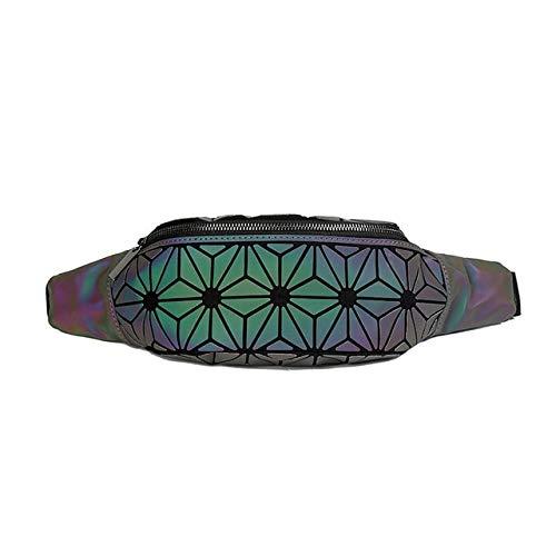 Riñoneras Luminosas de Moda para Mujer Riñoneras de Cintura Riñonera Riñonera de Lujo en el Pecho Riñoneras geométricas - 2