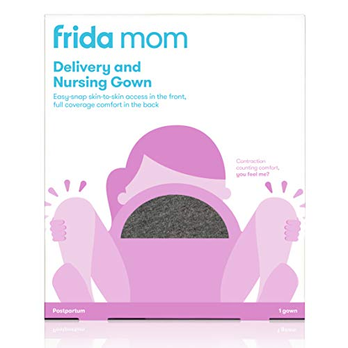 Frida Mom Delivery and Nursing Gown | Easy-Snap, Tagless, Skin-to-Skin...