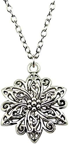 DUEJJH Co.,ltd Halskette 1 Pcs Dropshipping Willkommen 31X23Mm Blumenanhänger Halskette Antik Silber Farbe Halskette Mode 2019