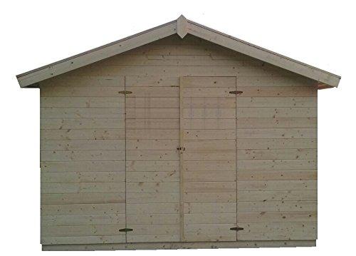 CADEMA Gartenhaus aus Holz 3,3m x 3,3m, (16mm) VALENCIA – Gerätehaus