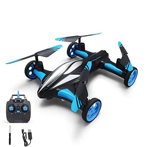 YFQH Drone,Aviones De Control Remoto De Cuatro Ejes, Aviones Terrestres Y Aéreos, Modo Doble con Retorno De Un Botón, Adecuados para Juguetes De Niños,aerialversion