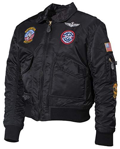 MFH US Kinder-Pilotenjacke, CWU, mit Fliegerabzeichen (schwarz, L)