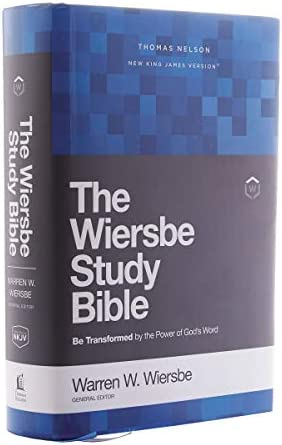 NKJV Wiersbe Study Bible Hardcover Red Letter Comfort Print Be Transformed by the Power of God product image