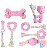 camiter puppy gioco gomma naturale,giocattoli da masticare per cuccioli,giochi per cani cuccioli durevoli 7 pezzi