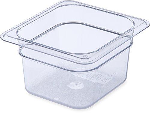 Carlisle 3068407 StorPlus Sixth Size Food Pan, Polycarbonate, 4